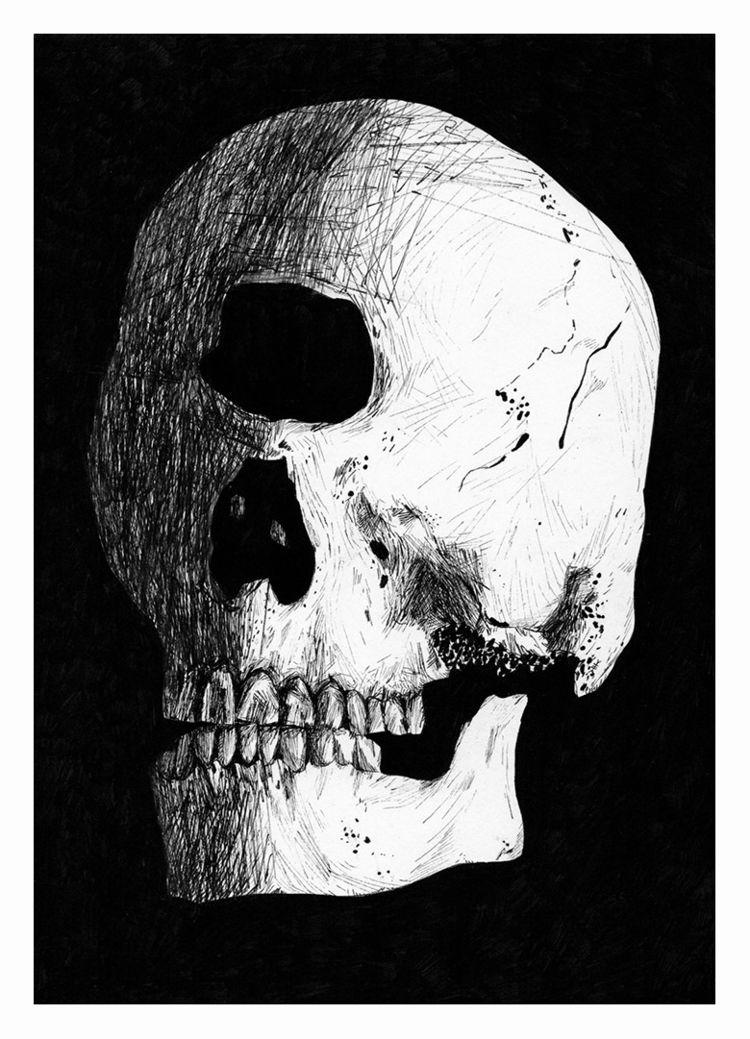 Dead cyclops. Ink paper, 210x14 - carpmatthew | ello