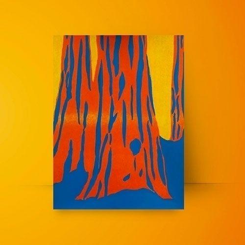 Risograph blue acrylic. Sequoia - ivalera | ello
