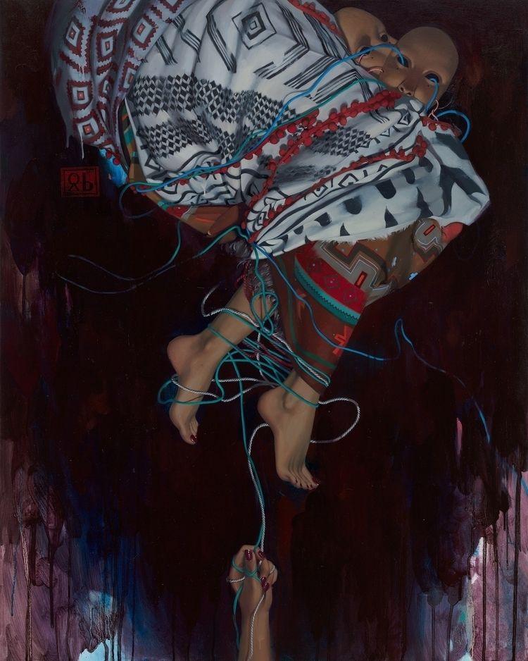 WIRES Oil canvas 100 80 cm 2018 - simonaruscheva | ello