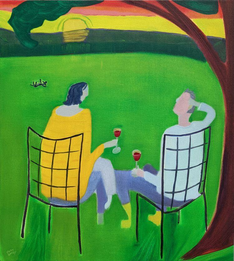 Sunsetters oil/canvas, 40x36 - markbarry | ello