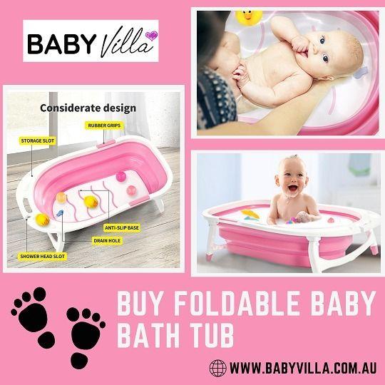Buy Foldable Baby Bath Tub - Vi - babyvilla   ello