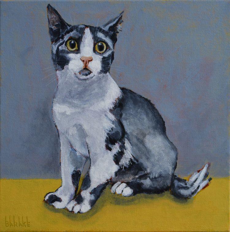 MAXWELL, Acrilics Canvas - elloart,#cat,#portrait,#impressionism,#animalier,#painting, - barakesculptor   ello