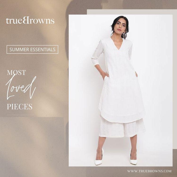 Buy Summer Ethnic Cotton Kurtas - truebrowns | ello