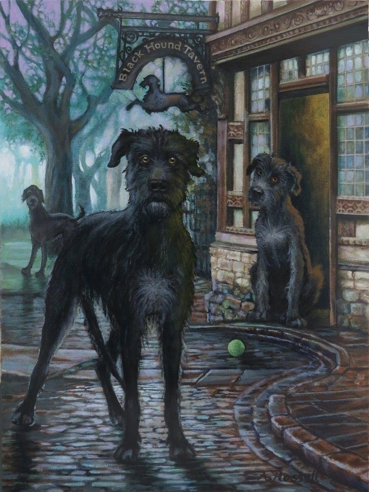 Black Hound Tavern, 16x12 (fram - ahassell   ello