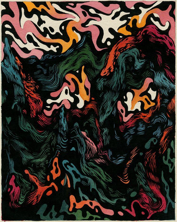 Solar Winds Watercolor gouache  - jacobvanloon | ello