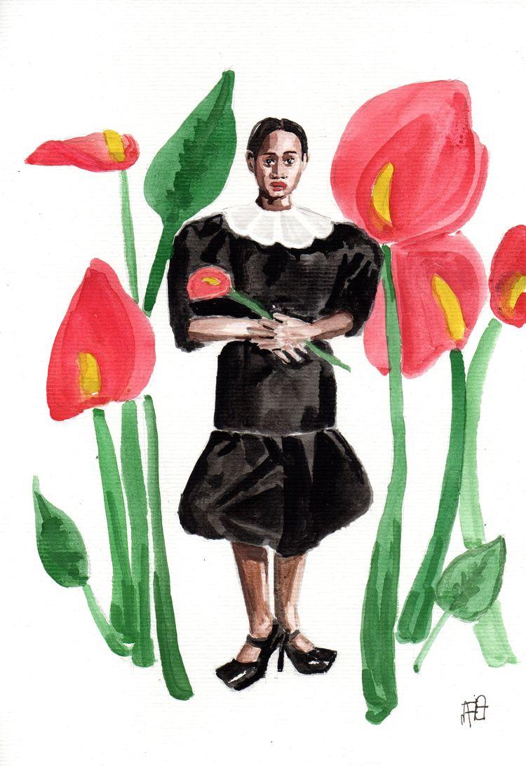 illustration, drawing, watercolor - nataliadamiao | ello