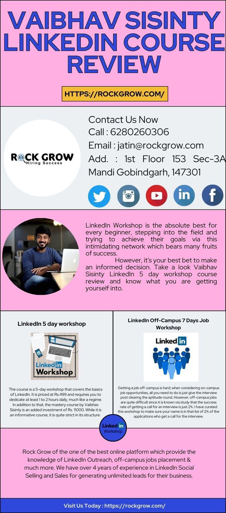step Vaibhav sisinty LinkedIn r - rockgrowweb | ello