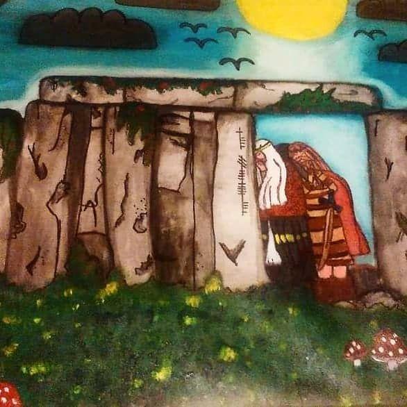 Throwback Irish Folklore painti - ruthohaganartist | ello