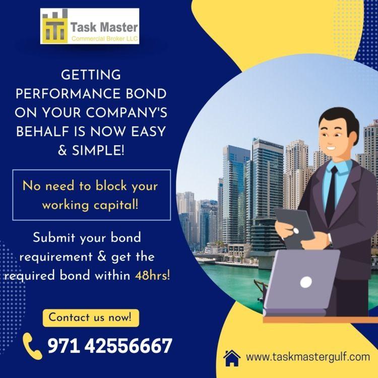 performance bond behalfis easy  - taskmaster | ello