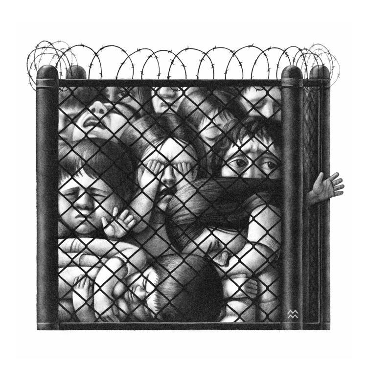 Children crowded detention cent - miriamdraws | ello