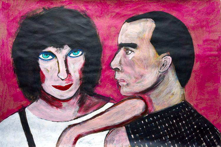 Rough Trade 2021, acrylic paper - artchrisdale | ello