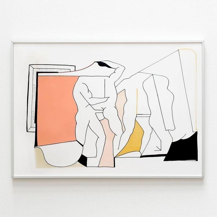 PAPER ꜱᴘᴀᴄɪᴀʟ 01 35x50 cm acryl - moonmambo   ello