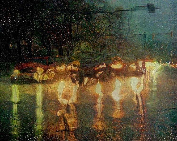 Cars rain Early morning commute - kenlong   ello