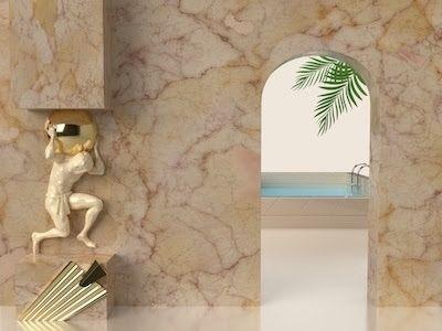 3D Human decor marble wall back - gngraphix | ello