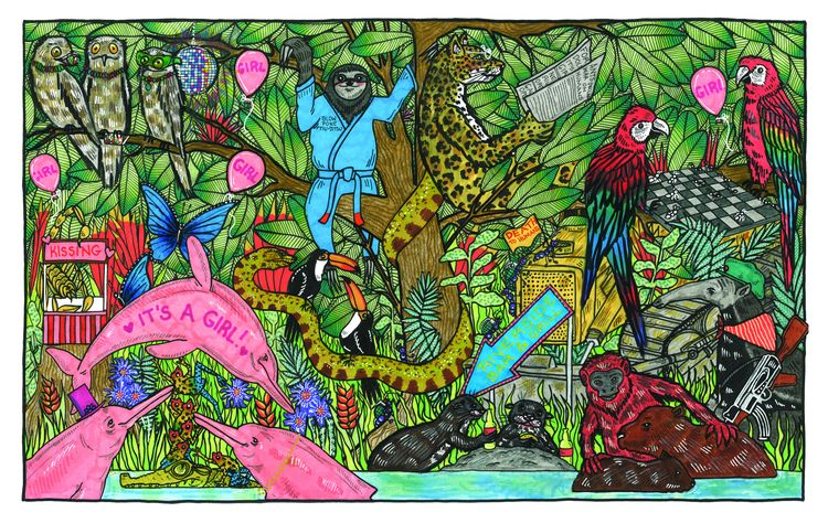 posted illustration finished we - juliawald   ello