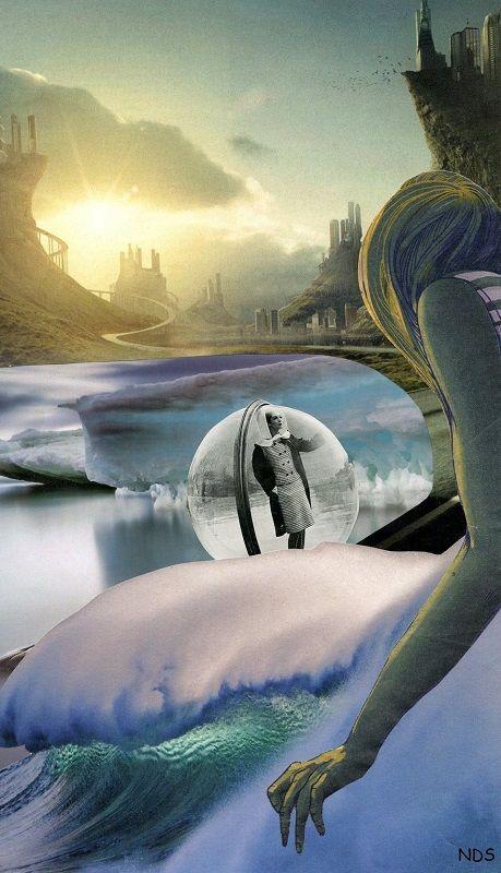 2021 hand-cut collage mind work - strangeworld   ello