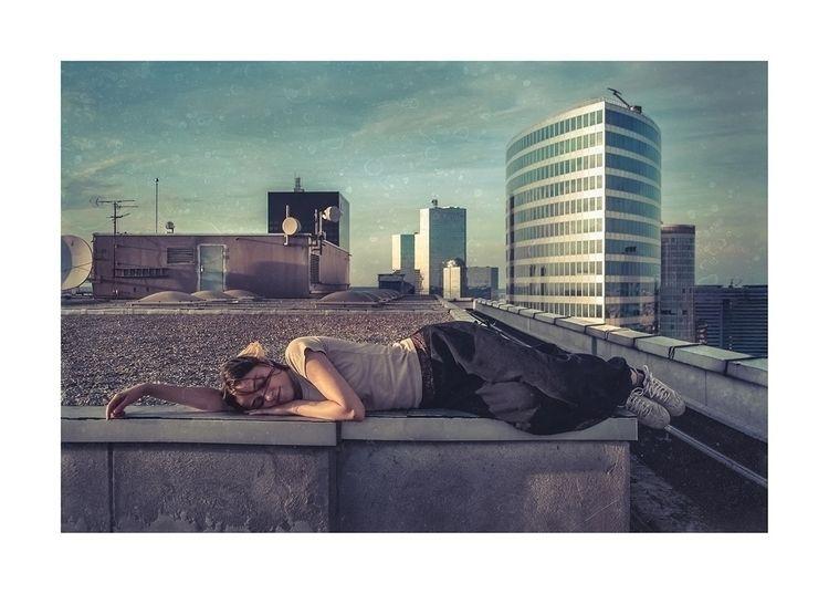 woman, roof, tower, photo, photography - a-v-b-e | ello