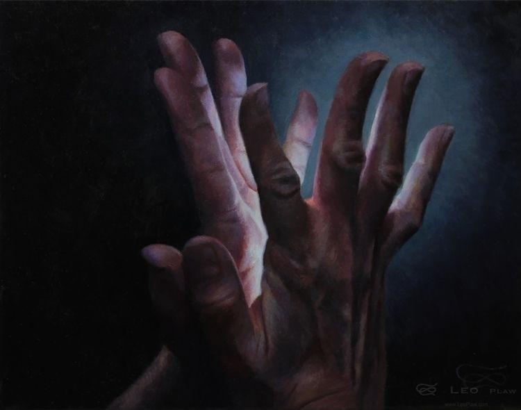 Hands 40, 30 24cm, oil canvas a - leoplaw | ello