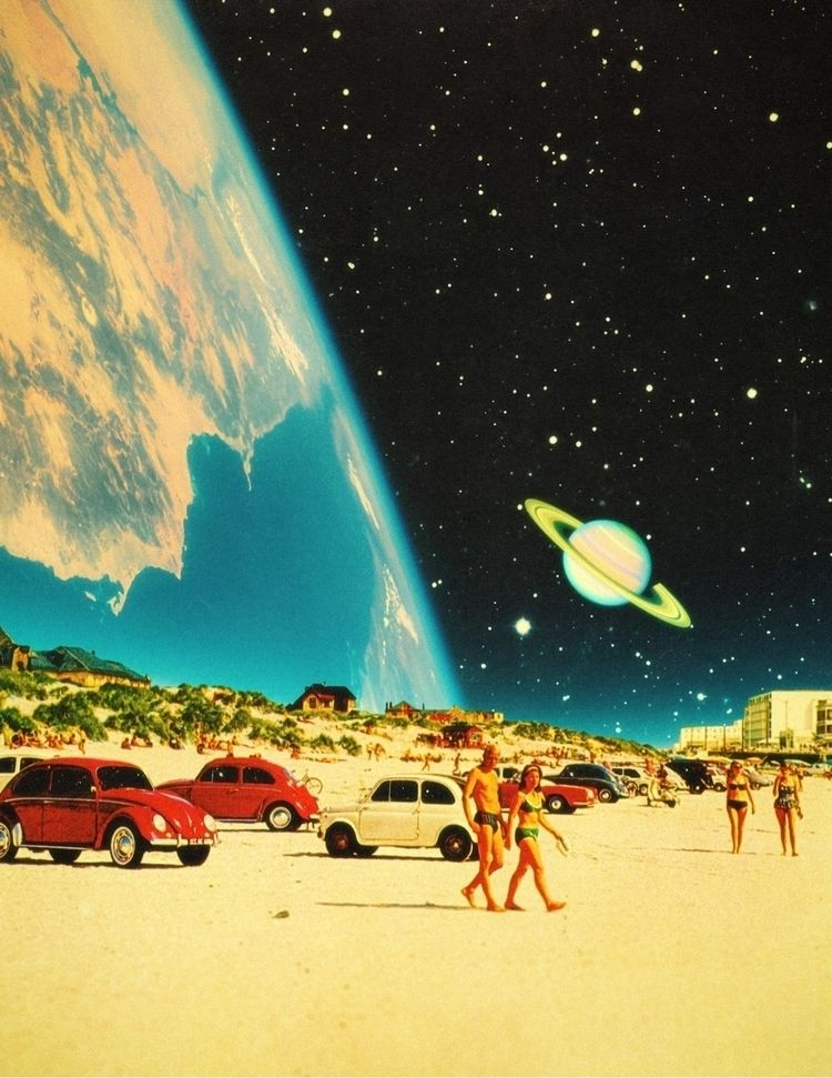 Galaxy Beach! :sparkles:🪐 - collageart - taudalpoi   ello