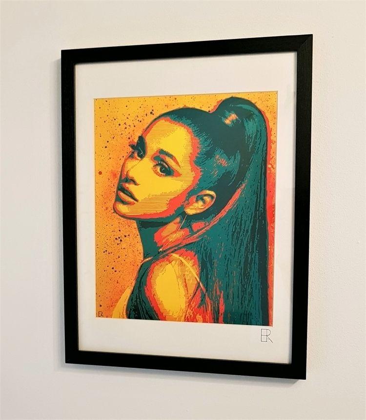'Ariana Grande' - Giclée print  - elizarockerart | ello