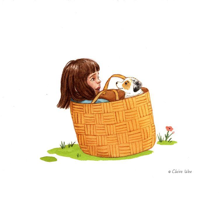 Basket friends - basket, illustration - j0eyg1rl   ello