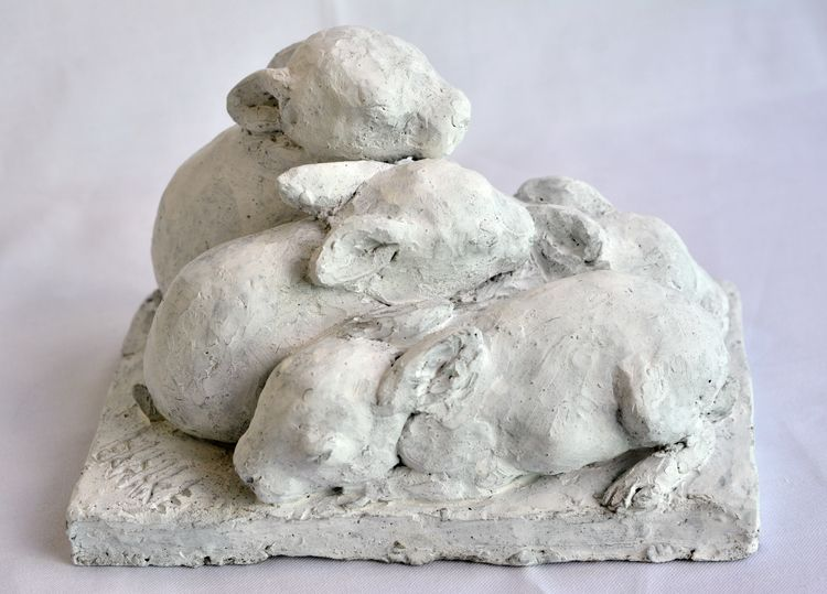 4 Bunnies, 5 Days Eyes Closed,  - barakesculptor   ello