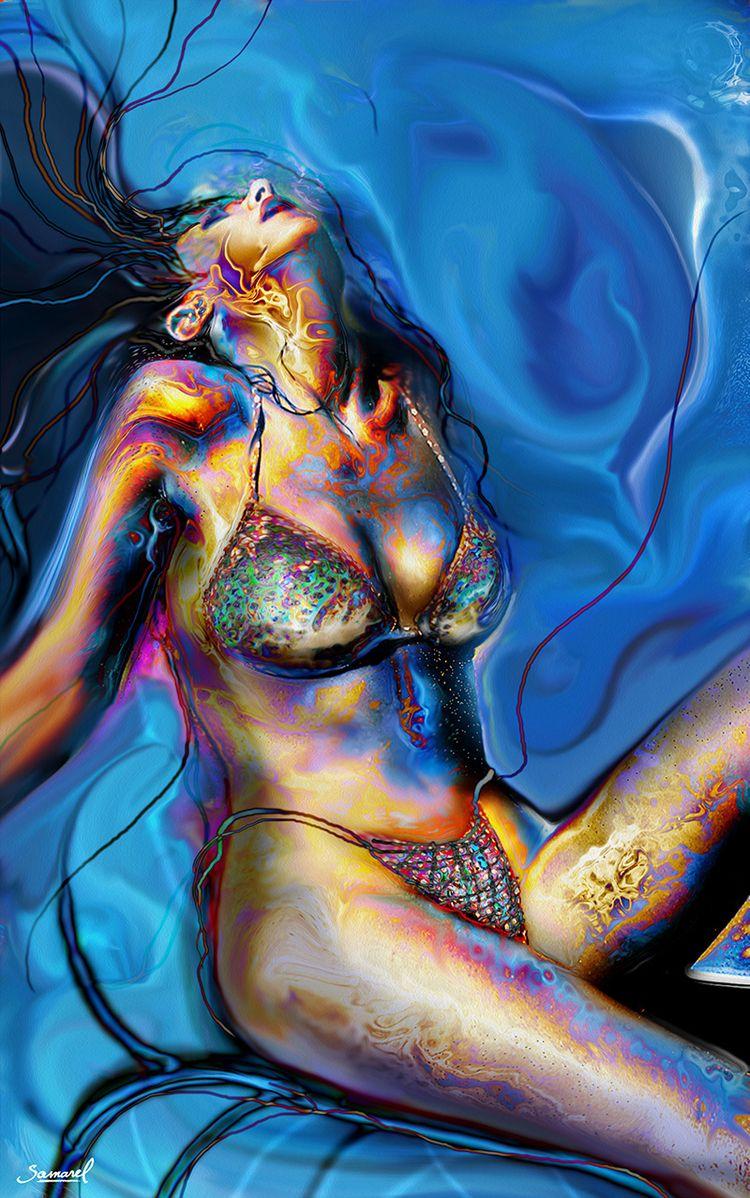 beach, girl - Bikini digital pa - samarel   ello