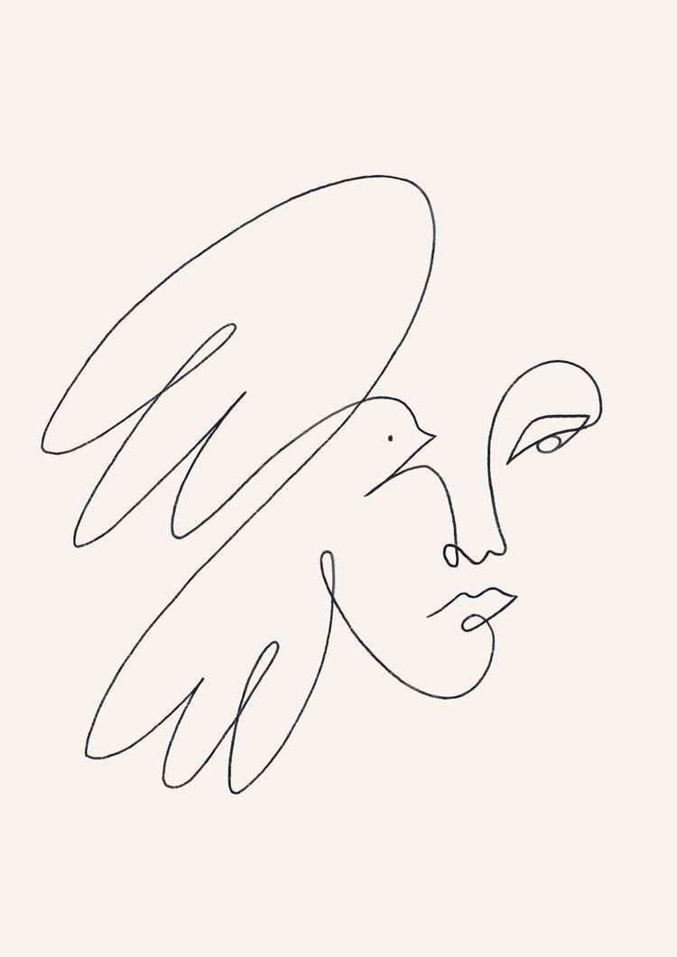 Dove - illustration, art, artprint - kitagar | ello