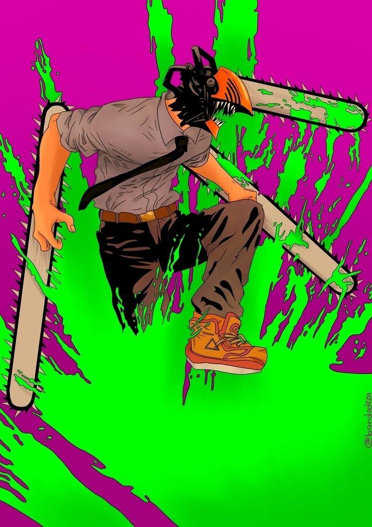 Denji - Chainsaw man * Fan art  - bondadeza | ello