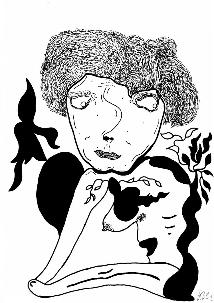 Hand-drawn illustration Sakura  - kmillu   ello