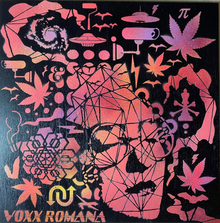 Original stencil spray painted  - voxxromana | ello