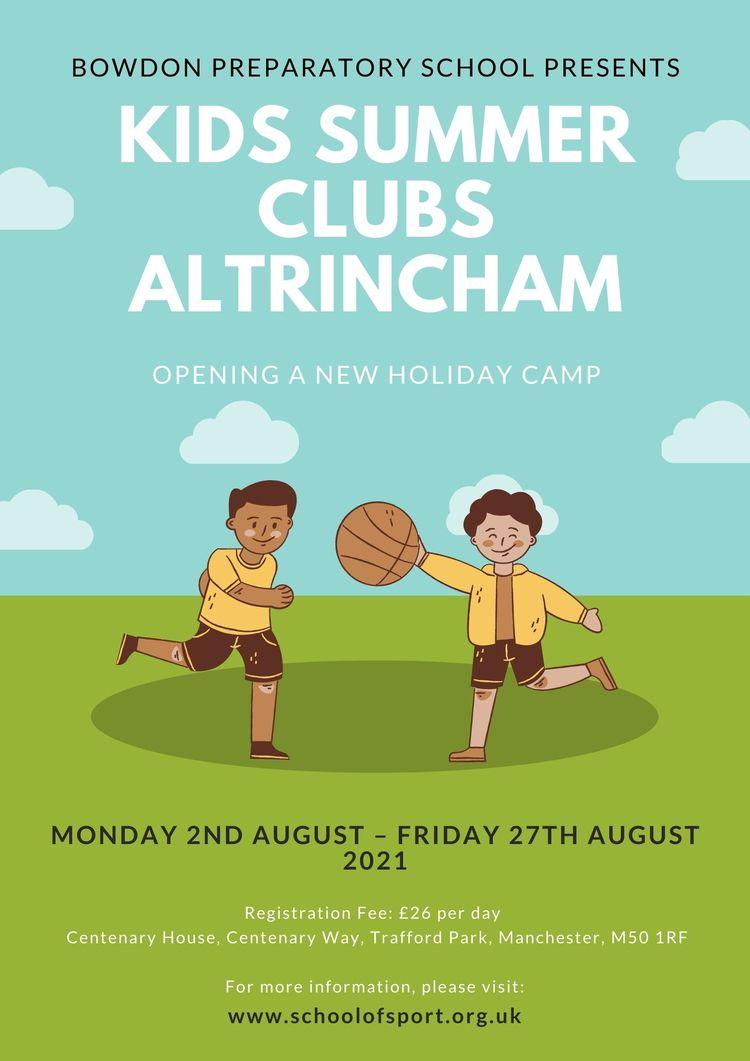 Kids Summer Clubs Altrincham. a - schoolofsports   ello