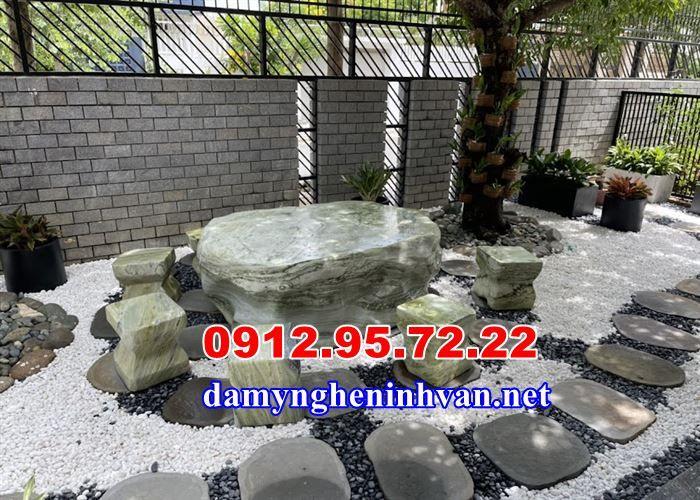 Bàn ghế đá tự nhiên sân vườn Nh - langmodaninhbinh   ello