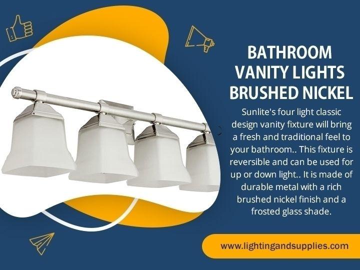 Bathroom Vanity Lights Brushed  - lightingandsupplies | ello
