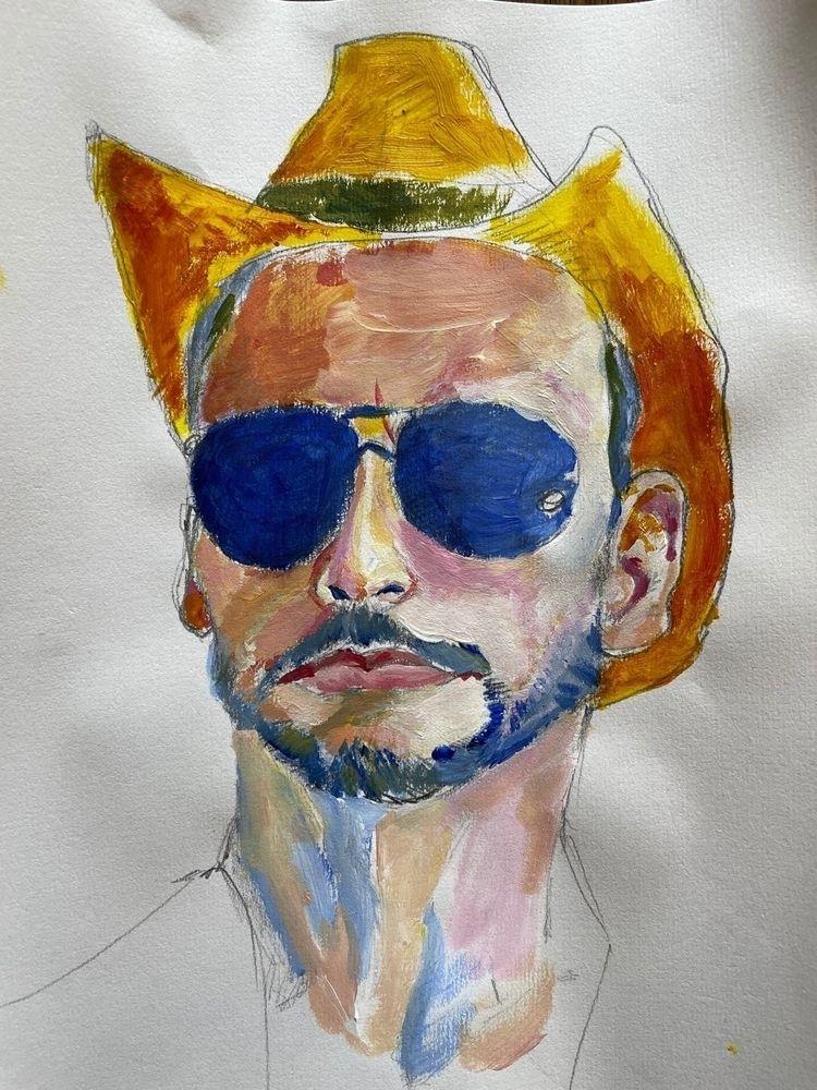 cowboy, paint, art, drawing - ampedvoxel   ello