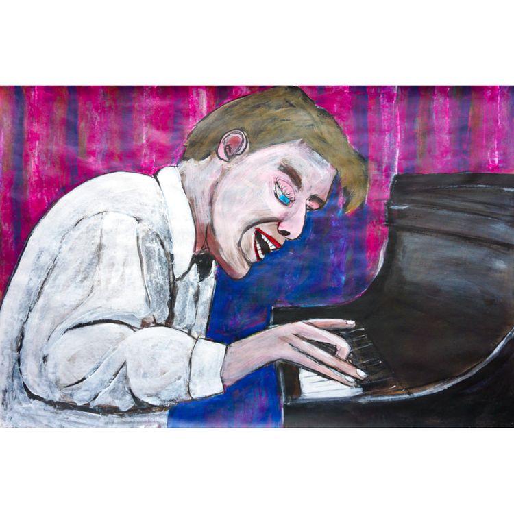 Glenn Gould 2021, acrylic paper - artchrisdale | ello