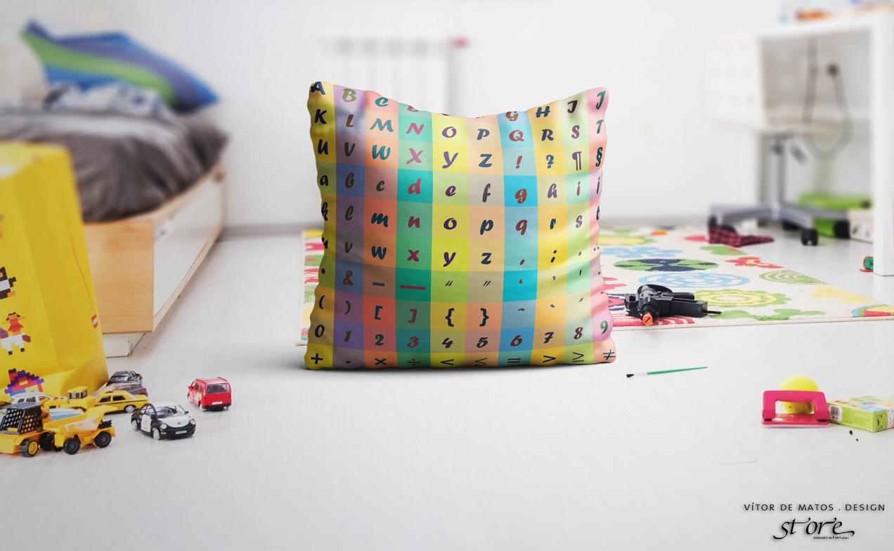 ❛ Typographic cushion ❜ by Vítor de Matos