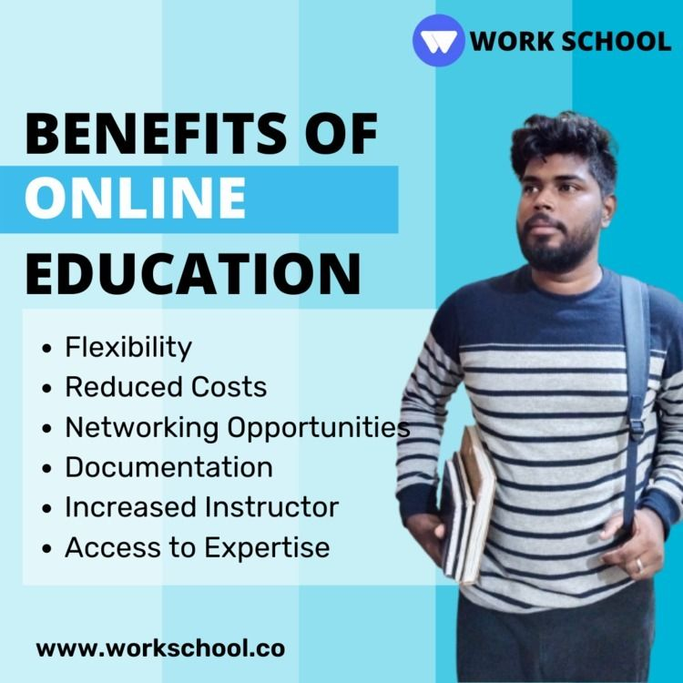 Benefits Online Education :poin - workschool   ello