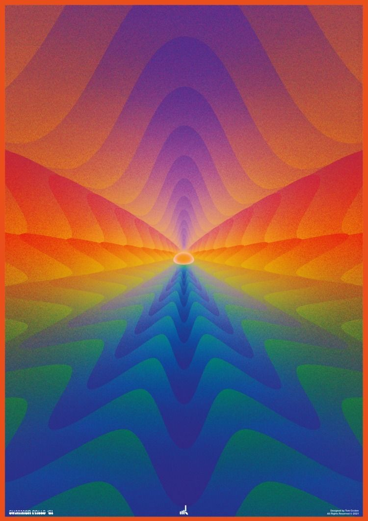 Summer Falls - poster, posterdesign - madleif   ello