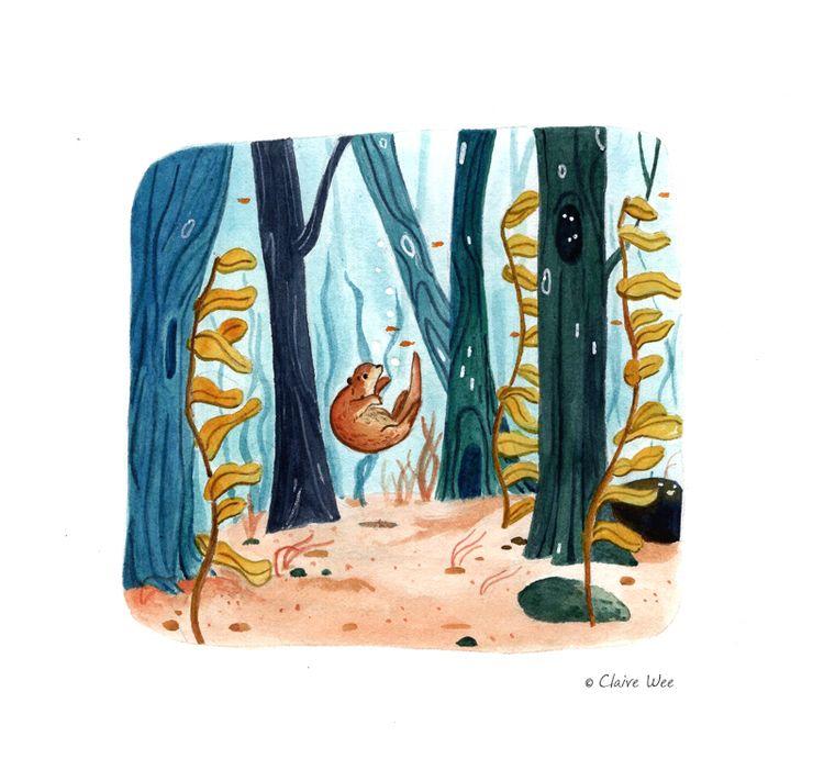 Day 16 - Forest world water - inkandmatcha - j0eyg1rl | ello