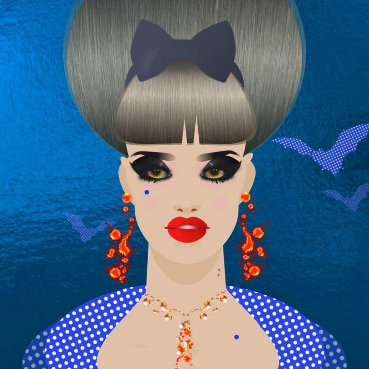 Fashion makeup sketch - naphthaleneandmoths | ello