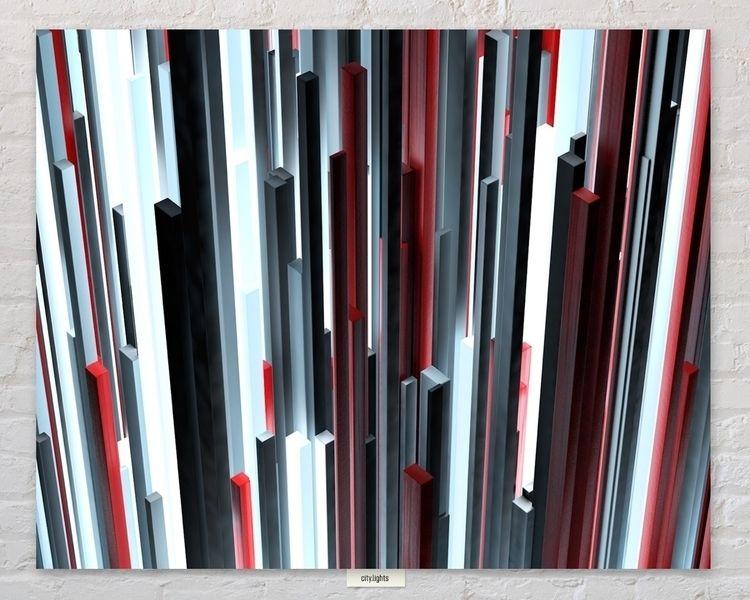 [city.lights II - cinema4d, render - qbism   ello
