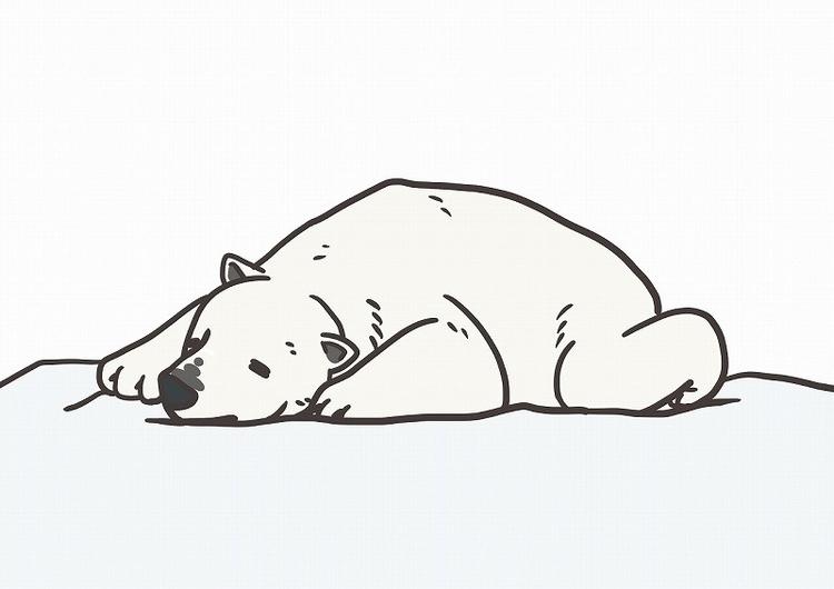 寝そべる白くま.jpg