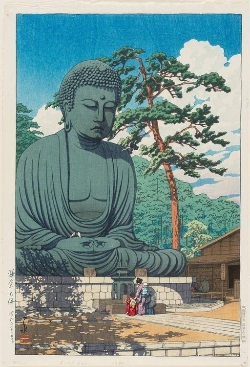 The Great Buddha of Kamakura by Kawase Hasui 1930 large.jpg