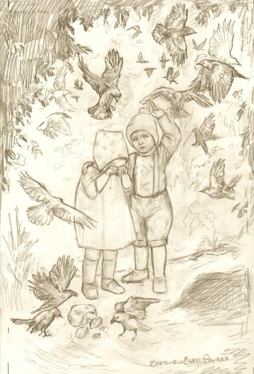 Hansel & Gretel - Breadcrumbs (sketch by Gretchen Ellen Powers).jpg