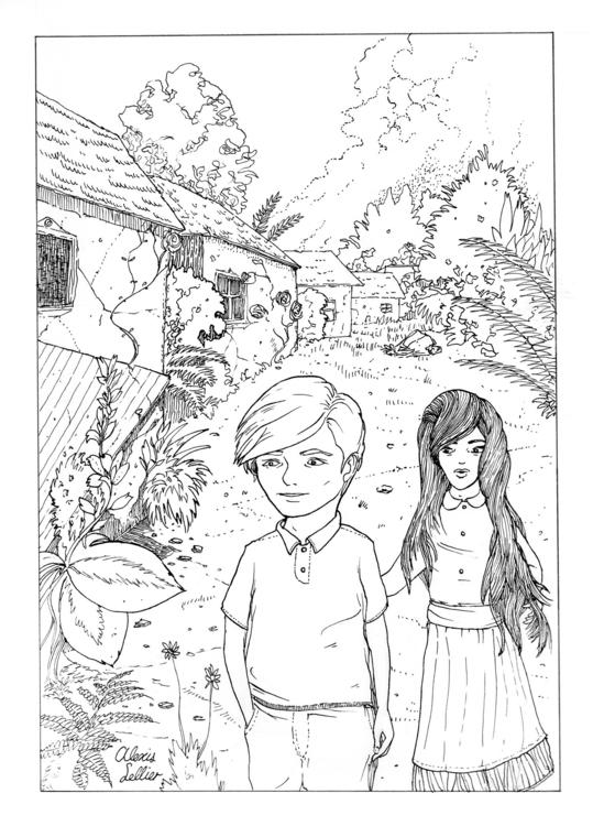 Golden Boy 1. A4 • ink paper - drawing - cloudhead | ello
