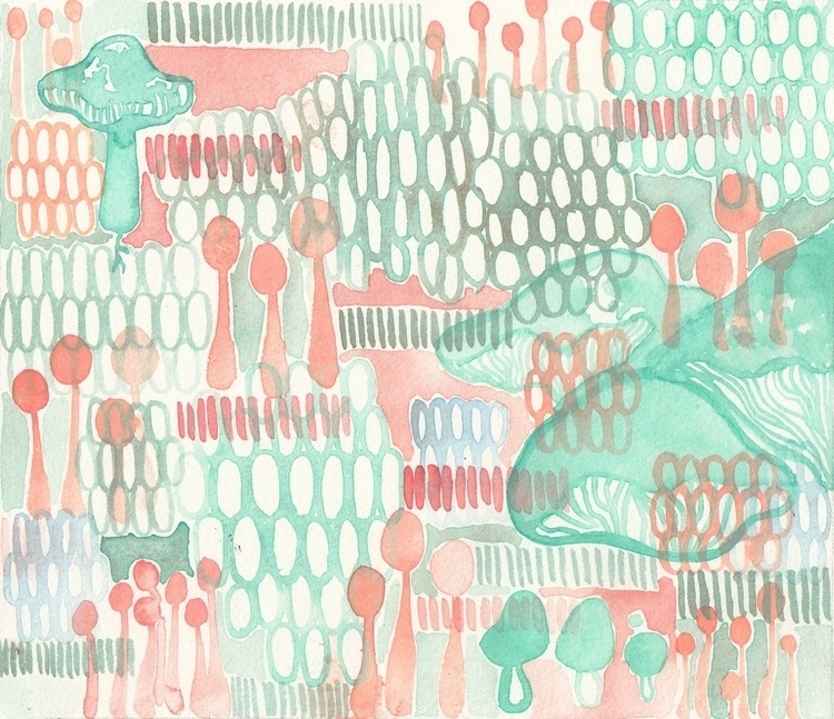 textile design rough. I wait pu - bowl-cut-mermaid | ello