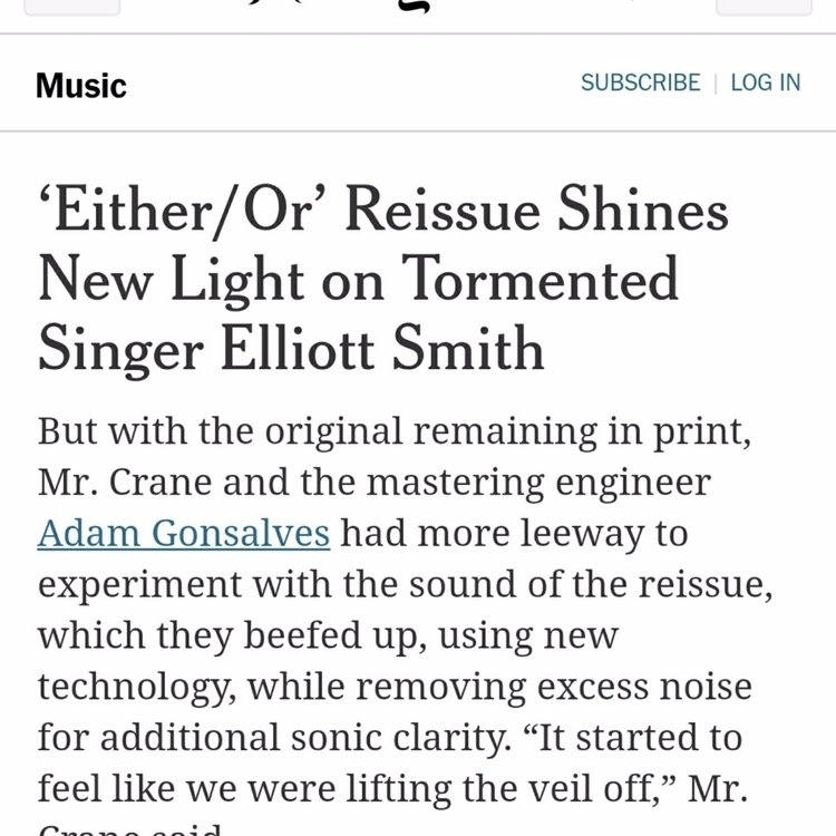 Mentioned NY Times remastering  - adamgonsa | ello