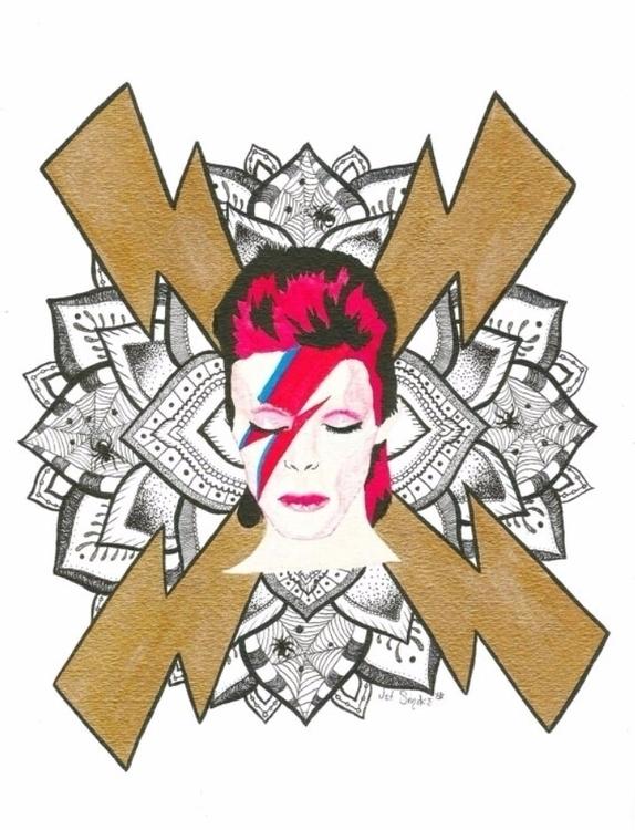 David Bowie Mandala ⚡⚡⚡ davidbo - jetsmokeee | ello