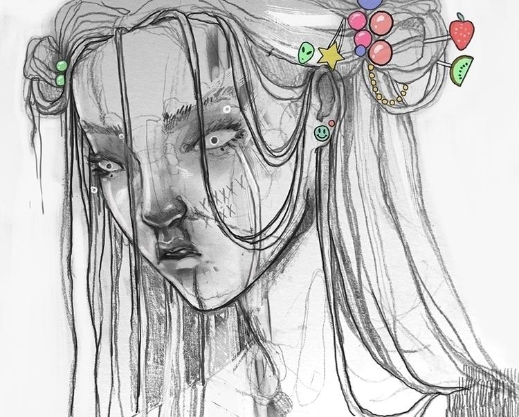 wrung illustration drawing char - lupetto | ello